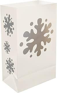 Lumabase 50412 12 Count Snowflake Plastic Luminaria Bags