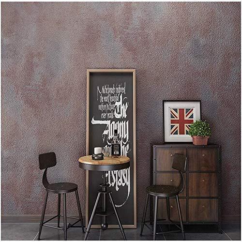 Pmhhc Weinlese-Konkrete Zement-Pflaster-Beschaffenheits-Tapeten-Büro-Retro- Rustikale Vinyl-Tapeten-Rolle Waschbar 0.53X10M