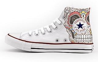 38d9ccb769d07 Converse All Star Personnalisé et imprimés - chaussures à la main - new  mexican skull