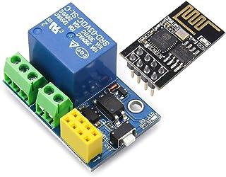 YXPCARS ESP 01S Relais mit ESP 01S Serial Modul Entwicklungs Board 1MB Flash Kompatibel mit für Arduino