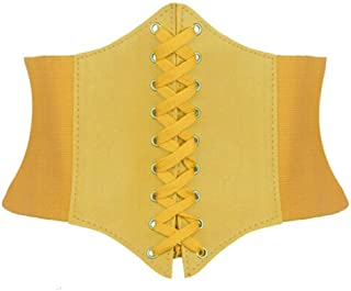 Alivila.Y Fashion Corset Women's Faux Leather Underbust Waist Belt Corset