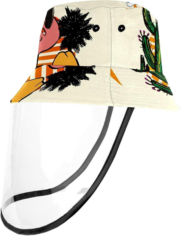 Unisex Cowboy On Beach Printed Bucket Hat Summer Travel Outdoor Fisherman Cap for Women Men Teens
