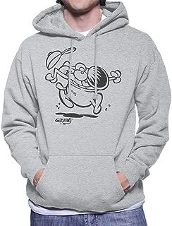 Comics Kingdom Grimmy Crazy Jump Men's Hooded Sweatshirt