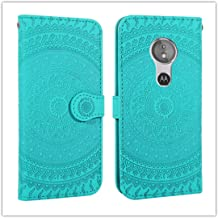 For Sony Xperia L2 Pressed Printing Pattern Horizontal Flip PU Leather Case with Holder & Card Slots & Wallet && Lanyard New (Gray) HuangFF (Color : Grass Green)