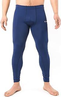 samfavo Men's Running Fitness Workout Skin Tights Compression Base Layer Pants