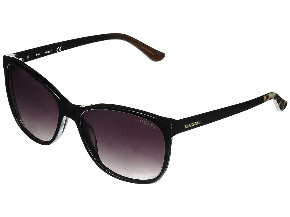 GUESS GU7426 (Shiny Black/Gradient Smoke) Fashion Sunglasses