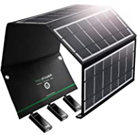 RAVPower 24W Solar Panel with 3 USB Ports Solar Charger