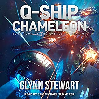 Q-Ship Chameleon     Castle Federation Series, Book 4               Written by:                                                                                                                                 Glynn Stewart                               Narrated by:                                                                                                                                 Eric Michael Summerer                      Length: 10 hrs and 9 mins     3 ratings     Overall 5.0