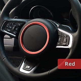 2x Red Start Stop Volume Button Ring Decor Trim For Jaguar XE XEL XF XFL F-PACE