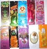 Wholesale Lot 60 Indoor Sun Tan Lotion Bronzers Tanning Bed Sample Packs Packages