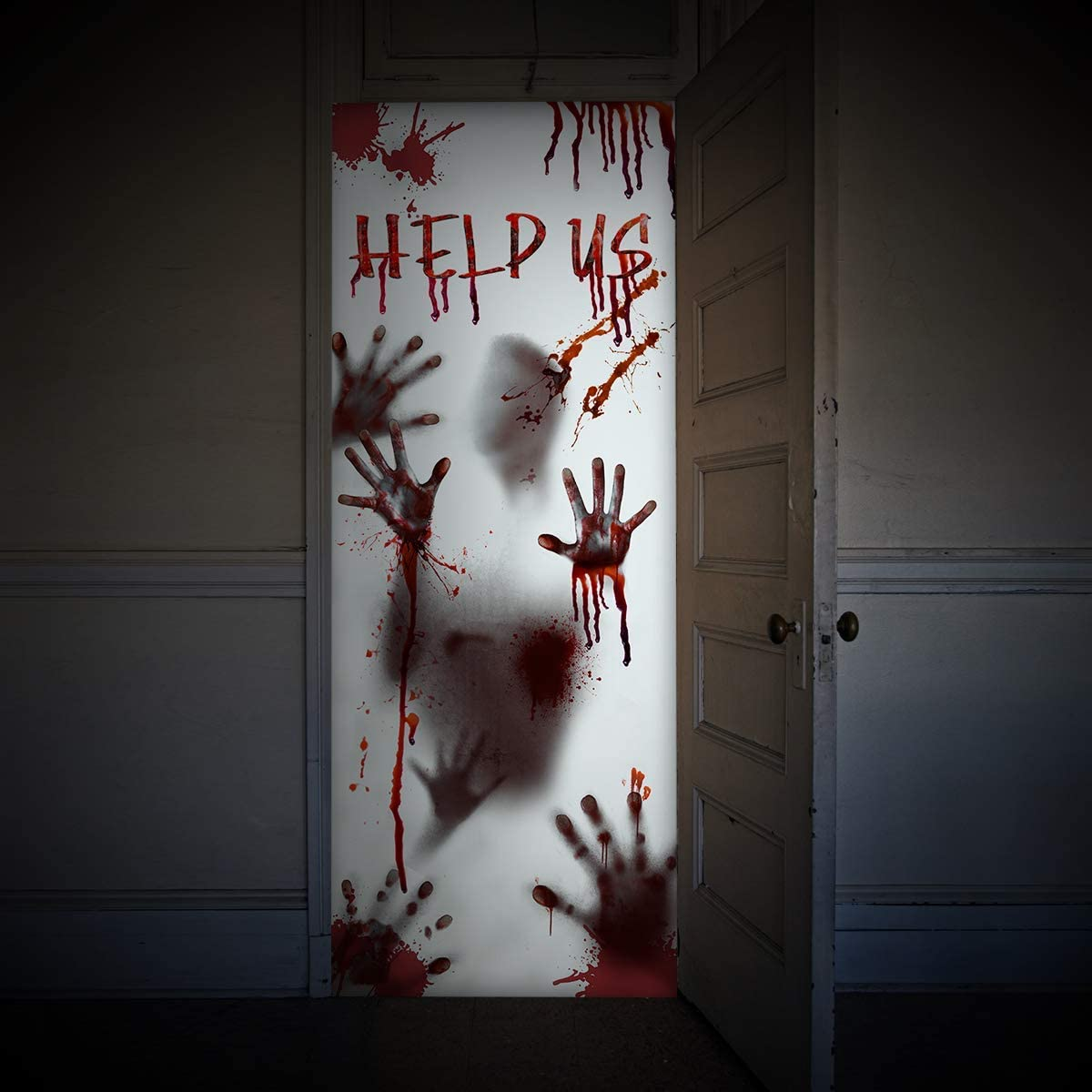 Covid halloween door decorations