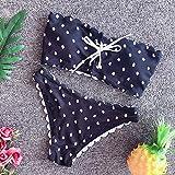 VGUYFUYH Traje De Baño De Las Mujeres - Moda Sexy Bikini Traje De Baño Mujeres Trajes De Baño Strapless Bikinis Set Mini Traje De Baño, Negro, M