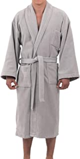 Alpine Swiss Aiden Mens Cotton Terry Cloth Bathrobe Shawl Collar Velour Spa Robe