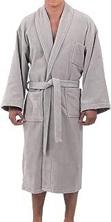 Aiden Mens Cotton Terry Cloth Bathrobe Shawl Collar Velour Spa Robe