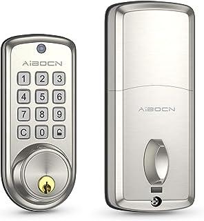 Aibocn Smart Lock, Keyless Entry Door Lock, Electronic Keypad Deadbolt Lock with Auto-Lock,10 Customizable User Codes, Easy to Install and Program, Security Smart Door Lock for Home Bedroom Front Door