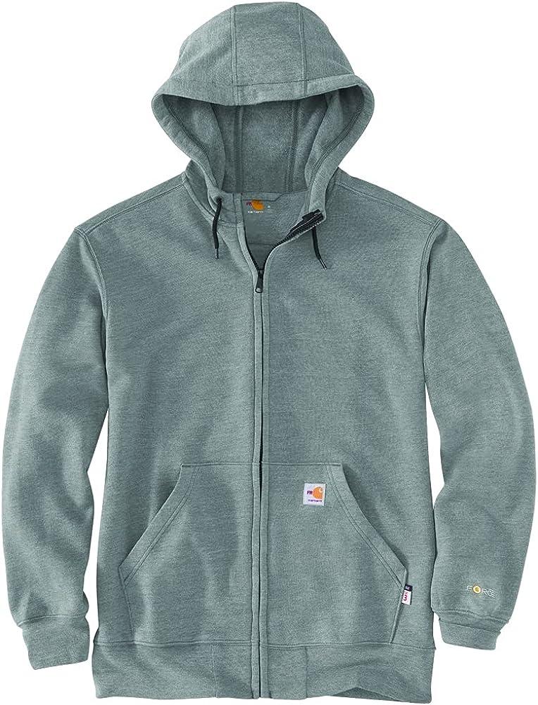 Carhartt Men's Flame-Resistant Force Loose Fit Midweight Full-Zip Sweatshirt