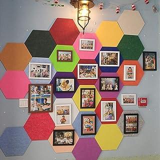 UYZ Tablero Hexagonal de Fieltro - 1 Pieza/Azulejos de Tablero Hexagonal con Parte Posterior Adhesiva Completa Cree el suy...