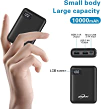 Portable Phone Charger 10000mAh Quick Charge 2.4 A Power Bank External Battery Packs Dual Ports...