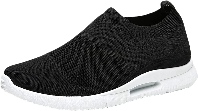 PMUYBHF Men's Running Shoes Slip On Sneakers Athletic Tennis Wal