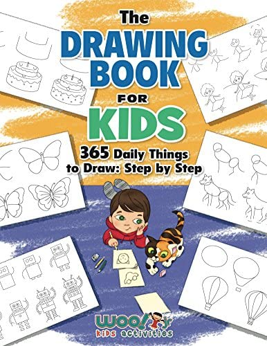 The Drawing Book for Kids 365 Daily Things to Draw Step by Step Woo Jr Kids Activities Books product image