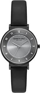 Kenneth Cole Women's BLUE LIGHT Dial Genuine Leather Band Watch - KC50077001