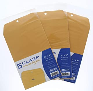 "3 Pack of 5ct (15ct total) Clasp Envelope, 6""x9"""