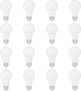 AmazonBasics 75W Equivalent, Daylight, Non-Dimmable, 10,000 Hour Lifetime, A19 LED Light Bulb   16-Pack