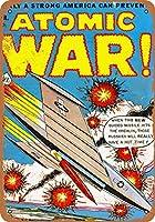 2個 20 * 30CMメタルサイン-1953年の核戦争コミック メタルプレート レトロ アメリカン ブリキ 看板