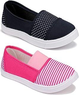 WORLD WEAR FOOTWEAR Women's (11023-11032) Multicolor Casual Leafers Shoes 5 UK (Set of 2 Pair)