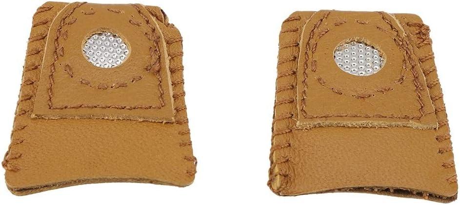 Maxmartt Leather Thimble,2pcs Small Size Leather Thimble Finger