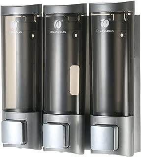 Blusea Dispensador de Jabón, CHUANGDIAN 3 * 200ml Dispensador de Gel de Ducha, para Montaje en Pared, Caja de Champú