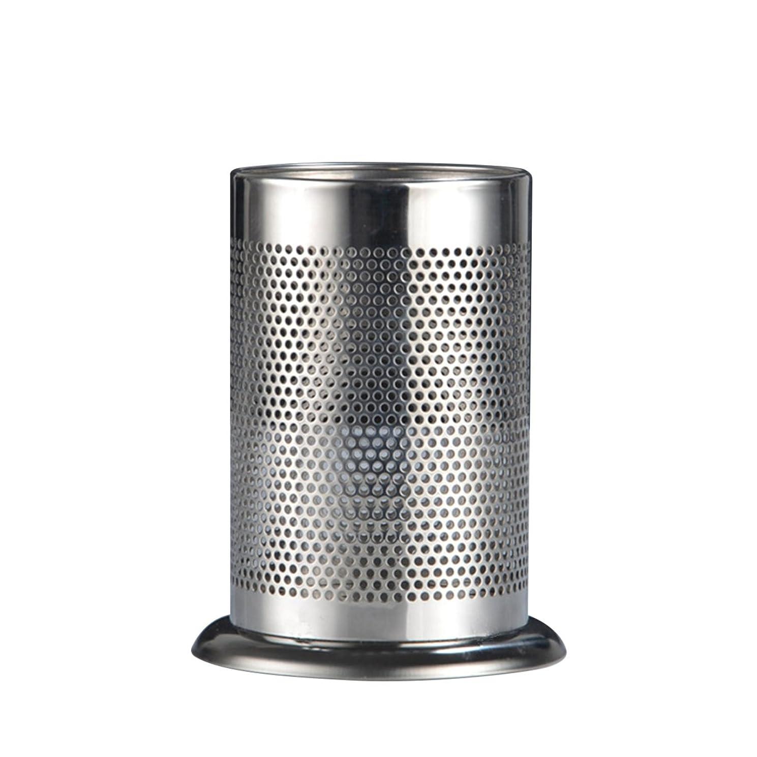 南アメリカトランジスタ間に合わせWINOMO 箸立て ステンレスの箸筒 カトラリースタンド キッチン水切り収納ラック 厚重感良い 17*12CM