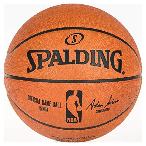 Spalding Unisex-Adult NBA Gameball Basketball, orange, 7