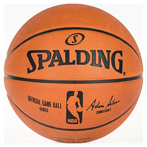 Spalding Unisex-Adult NBA Gameball Basketball, orange, 7