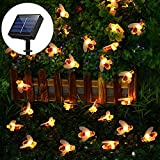Solar String Lights Outdoor 30 LED Bee Shape Fabselection Decorative Power Solar Garden