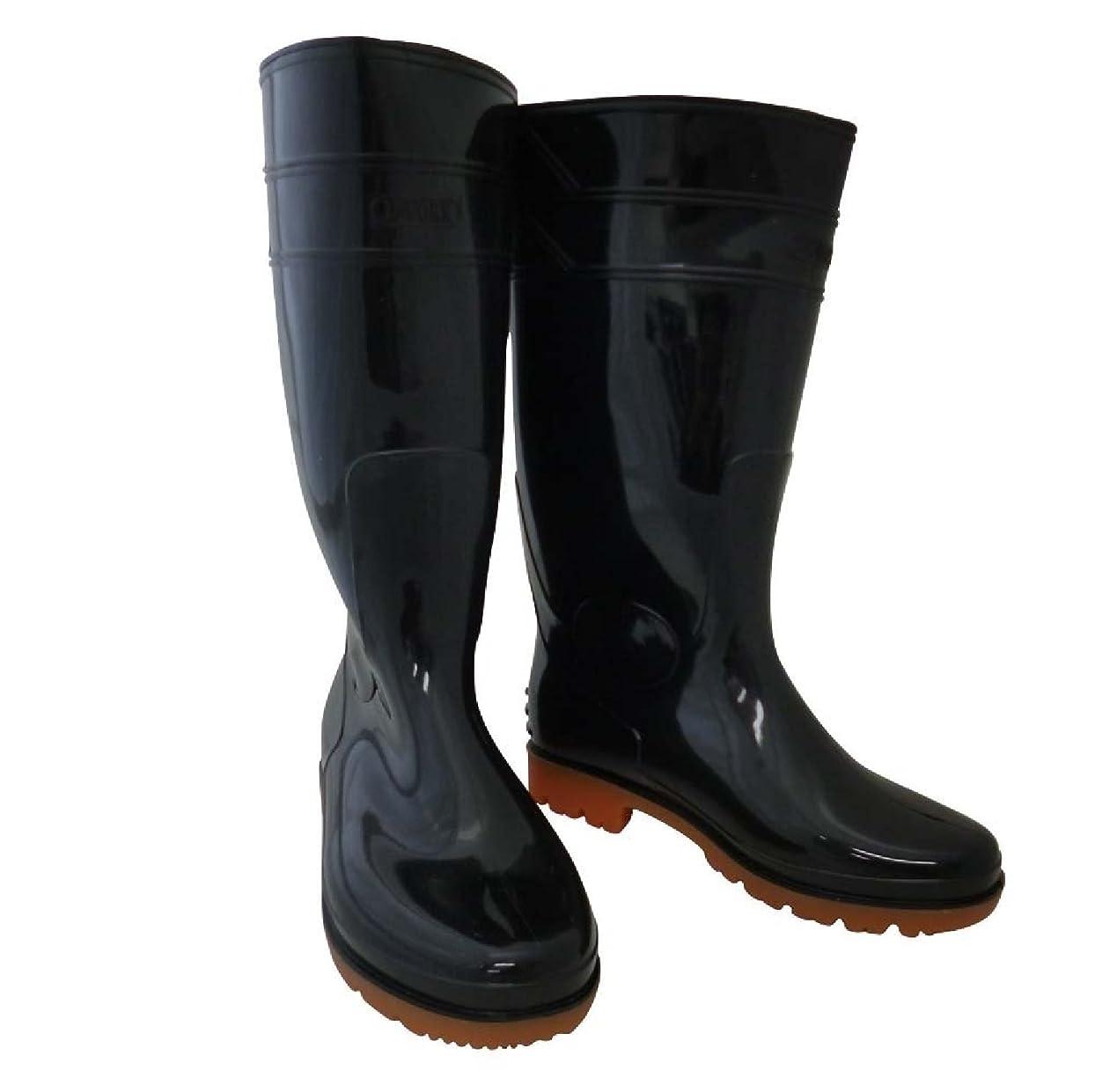 ちらつき収束するうまれたおたふく手袋/ロングタイプ耐油長靴/JW-708 サイズ:26.5cm カラー:黒