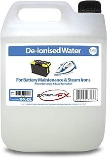 Extreme Fx Agua desionizada 5 litros – Agua Superior – Agua mineralizada, Agua Demi – Apto para Mantenimiento de batería, planchas de Vapor, radiadores de Coche, Fuentes, etc.
