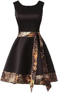 Camouflage Evening Prom Dress for Women 2019 V-Neck Wedding Bridesmaid Dresses Short Homecoming Dress