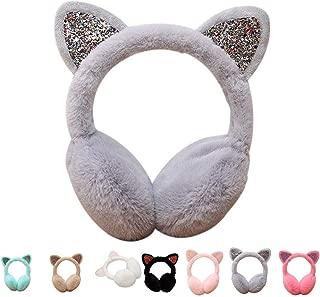 Cherishly Orejeras para mujeres de invierno cubiertas de calentadores de orejas de gato plegables en 3D Se/ñoras de piel de felpa para ni/ñas Diadema de dibujos animados al aire libre para top sale