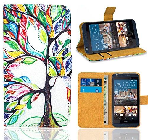 HTC Desire 626 626G Handy Tasche, FoneExpert® Wallet Case Flip Cover Hüllen Etui Ledertasche Lederhülle Premium Schutzhülle für HTC Desire 626 626G (Pattern 5)