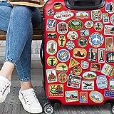 Juego de equipaje 90 pegatinas de vinilo para botellas de agua libros para niños álbumes de recortes viaje pegatinas de nevera calcomanías para coche maleta cámara portátil bicicleta monopatín