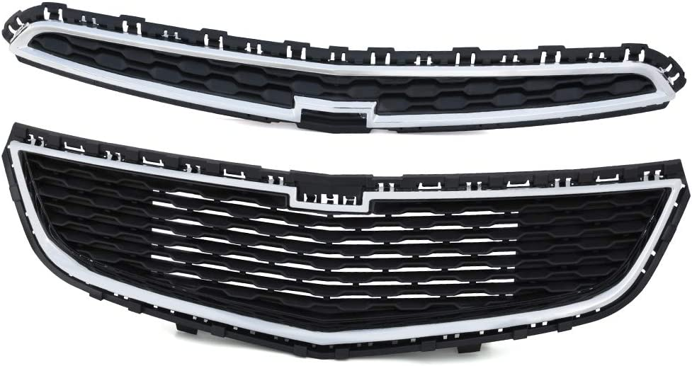 Front Bumper Upper + Lower 定番キャンバス Grille Compatible Chevy Cruze お値打ち価格で 201 For
