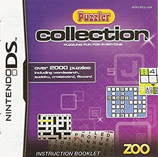 Puzzler Collection: Puzzling Fun For Everyone Instruction Booklet (Nintendo DS NDS Manual User's Guide only - NO GAME)