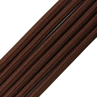 32.8ft Fabric Cloth Covered Round Wire,PRUNLLA Vintage 18/2 Industrial Electrical Lamp Cord, 18-Gauge Antique Style for Retro Lamp, DIY Projects (Brown)