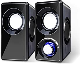 Sponsored Ad - Computer Speakers with Subwoofer Built-in 6 Loudspeaker Diaphragm High Sound Quality USB Powered LED Small ...