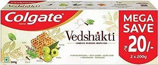 Colgate Swarna Vedshakti Ayurvedic Toothpaste, 400g Saver Pack ,with Neem, Clove & Honey , Anti-Germ Properties For Whole ...