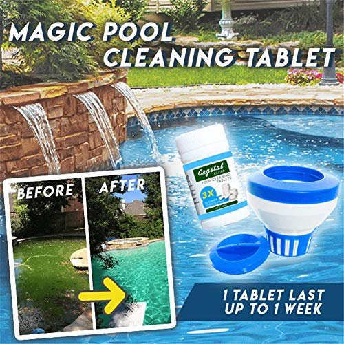 Dragon Honor Magic Pool Cleaning Tablet & Floating Dispenser