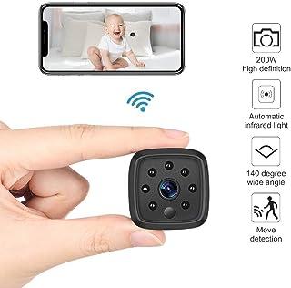 كاميرا خفية ALILJJ Spy 1080P HD لاسلكية للمراقبة المنزلية الصغيرة ، كاميرا صغيرة محمولة في الداخل / الخارج كاميرا فيديو مع...