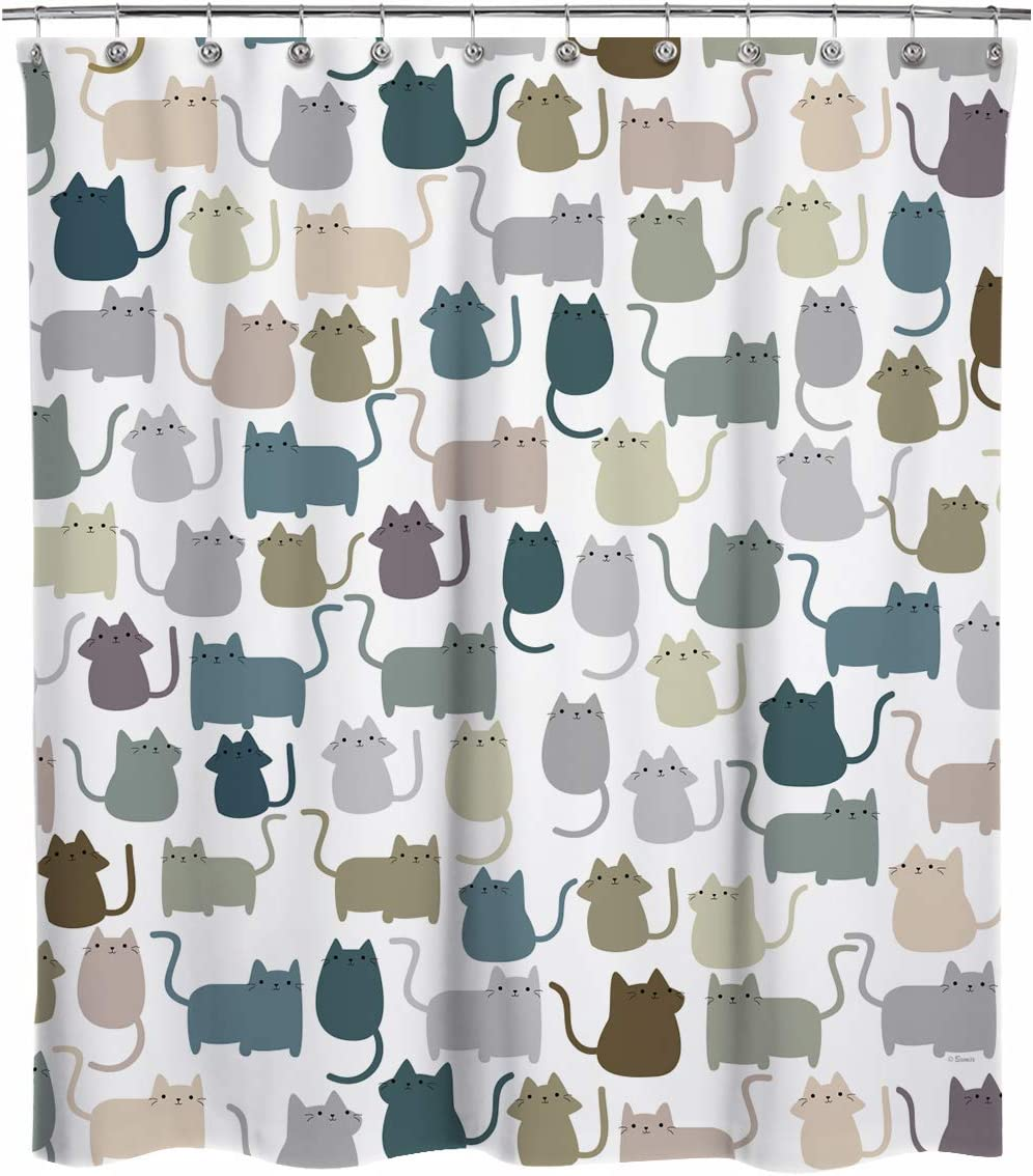 Sunlit Design Extra Long Lovely Cartoon Fabric Multicolor S Industry No. 1 NEW before selling Cats