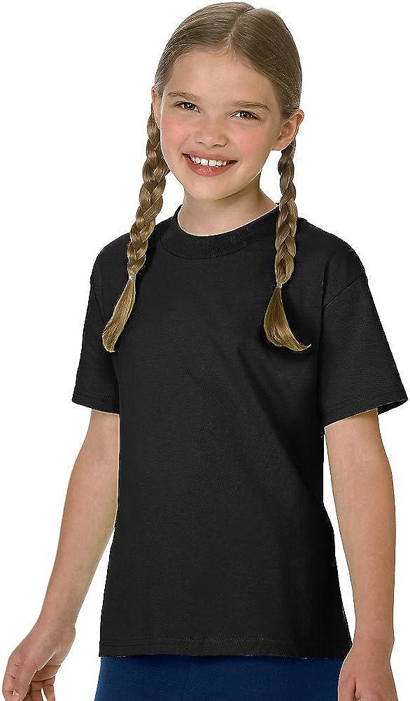 Hanes Authentic TAGLESS Boys' Cotton T-Shirt_Black_L